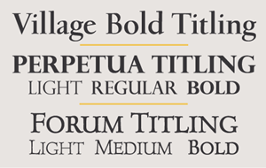 Titling Fonts