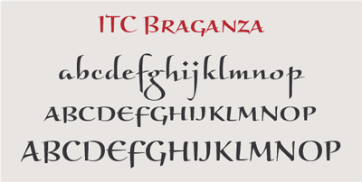 In Some Designs With Small X Heights Such As ITC Braganza The Caps Are Designed To Work Well Capital Letters