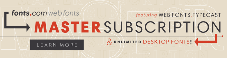 Web Fonts Master Subscription