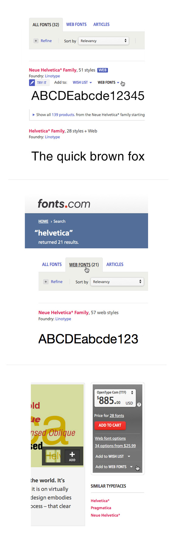 Where to find Web fonts