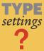 Customizing Type Software Settings