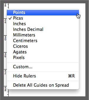 Setting Preferences in InDesign