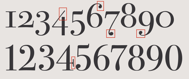 Oldstyle figures for Classic house number fonts