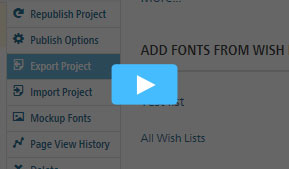 Import and Export Web Fonts Projects