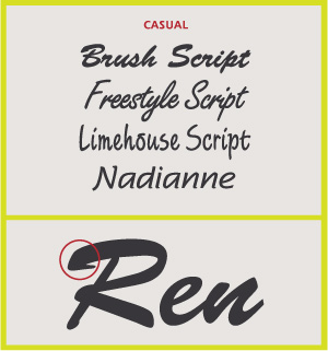 Casual Scripts Decorative Styles