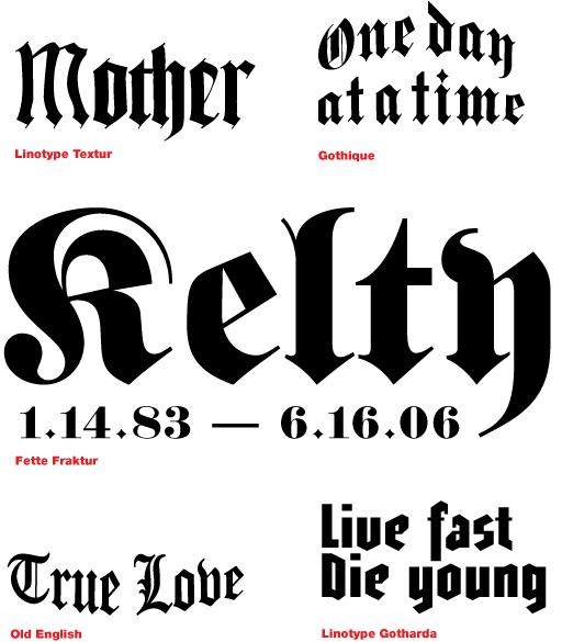 Tattoo Design Font Free