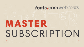 Fonts.com Web Fonts Master Subscription