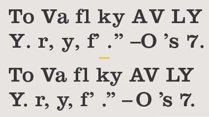 Kerning Text Type