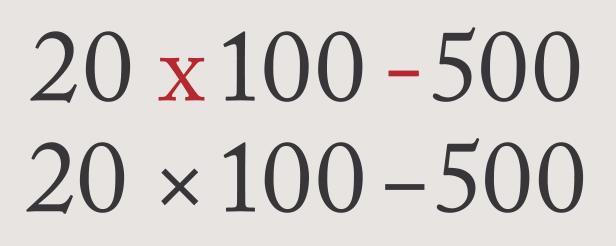 Correct Marks Fonts