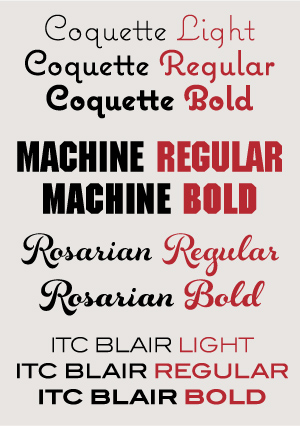 Display Typeface Weights
