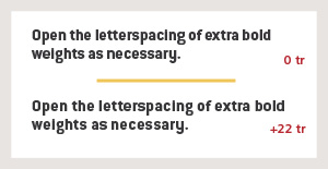 Guidelines for Bold Type in Text
