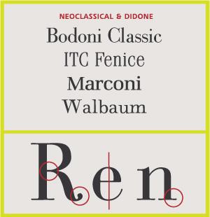 Neoclásico y Didone Serifs