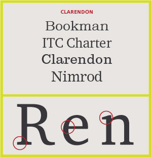 Clarendon Serifs
