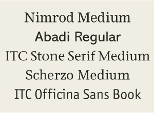 These Typefaces Are Extremely Legible Because Of Their Open Easy To Read Features
